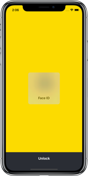 Face ID screenshot